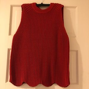 J. Crew Scalloped Knit Sweater Shell